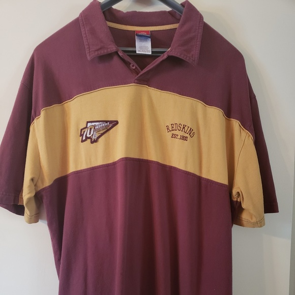 finest selection 422c9 a7420 Washington Redskins 70th Anniversary Reebok Polo